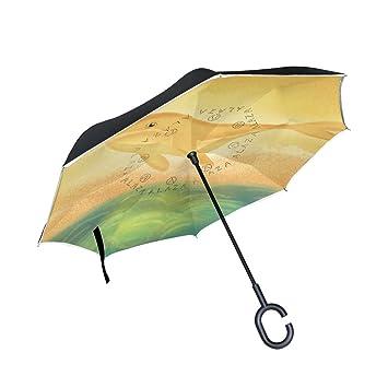 Thenahome - Paraguas invertido con apertura automática en la parte superior, compacto, ligero y
