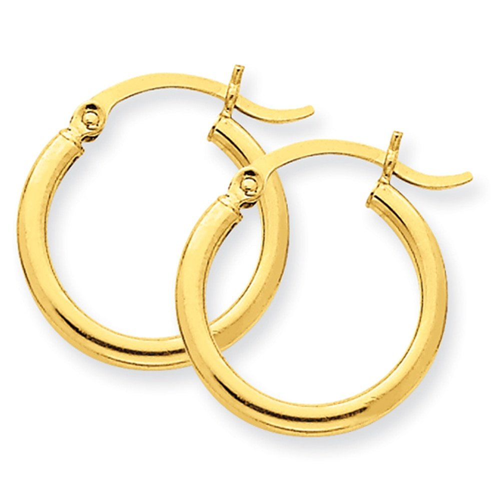 Lex /& Lu 14k Yellow Gold Lightweight Tube Hoop Earrings LAL81394