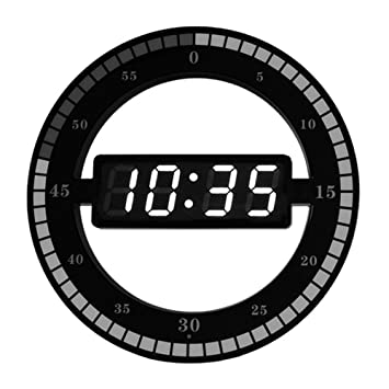 Amazon.com: Modern Nightstand Clock - Dimmable LED Creative Ring ...