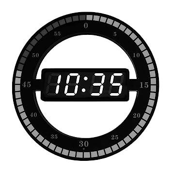 AOLVO Reloj Luminosa Personalizable - Reloj Creativa LED Reloj Ciclo de Tiempo Smart Simulation Reloj Digital electrónica: Amazon.es: Hogar