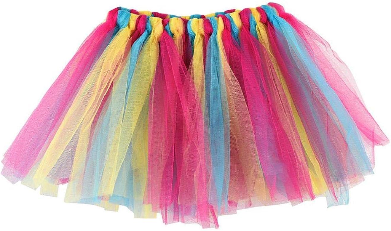 dcc60b343 Falda del Tutu para Niña,SHOBDW Niños Bebé Regalos de Cumpleaños  Elasticidad Fluffy Layered Rainbow Mini Pettiskirt Ballet Falda Fiesta de  Regalo ...