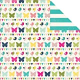 "Splendid Sunshine Double-Sided Cardstock 12""X12""-Flitter Flutter"