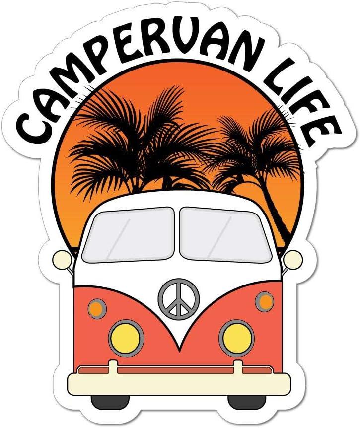 Camper Life Van Camping Road Trip Travel Adventure Car Sticker Decal