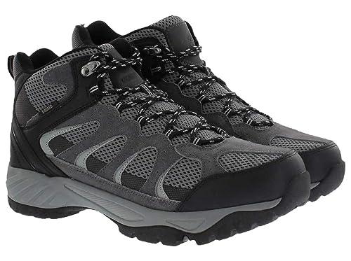 08ed9069015 Khombu Tyler Men's Black Leather Hiking Boot Size UK 10: Amazon.co ...
