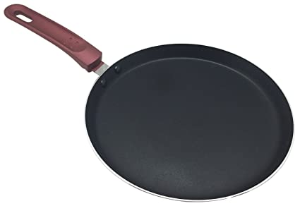 Pancake/Omelette Pan by Ricovero Cookware- Double Nonstick Crepe Pan - Healthy Cooking -