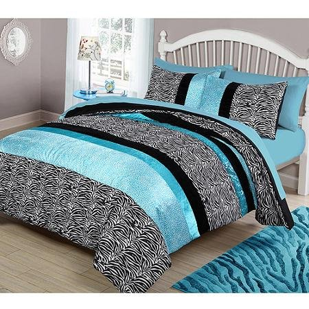 Your Zone Teal Animal Bedding Comforter Set - TWIN, used for sale  Delivered anywhere in USA