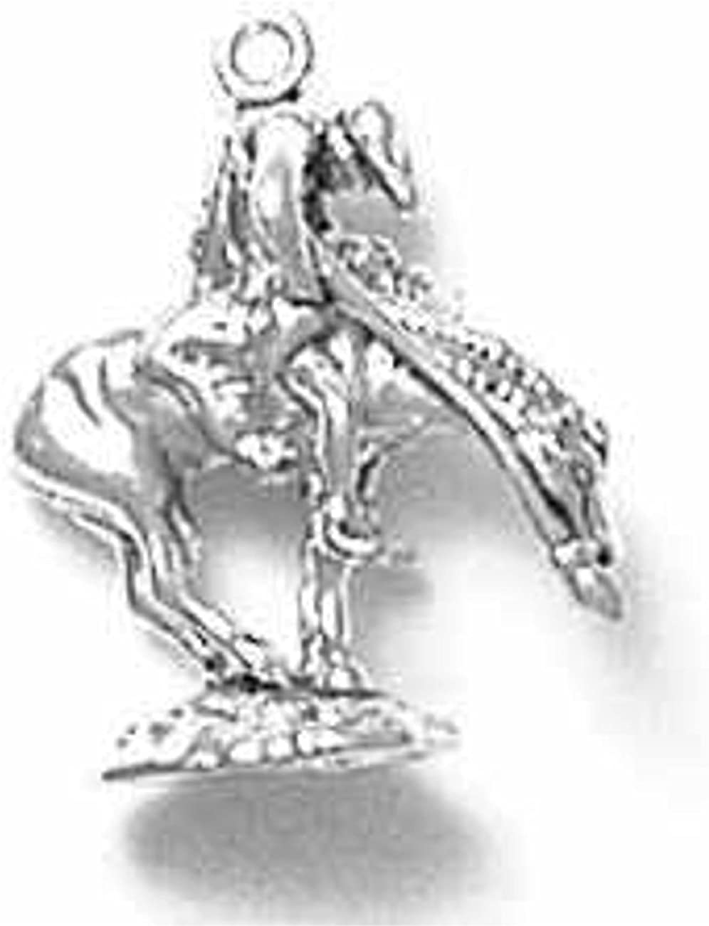 Sterling Silver Charm Bracelet With 3D Trail Of Tears End Of Trail Dejected Indian On Horseback Char