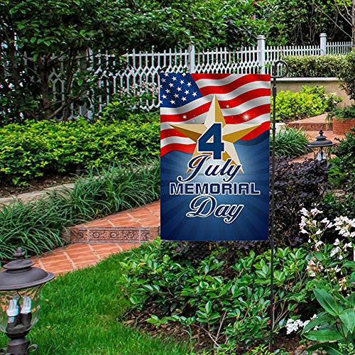 (American Flag Independence Day Garden Flag,4th of July Patriotic Garden Flag Double Sided,11.8x17.7 Inch Welcome Quote House Yard Flag, Garden Decorations,USA Vintage Holiday Seasonal Outdoor Flag )