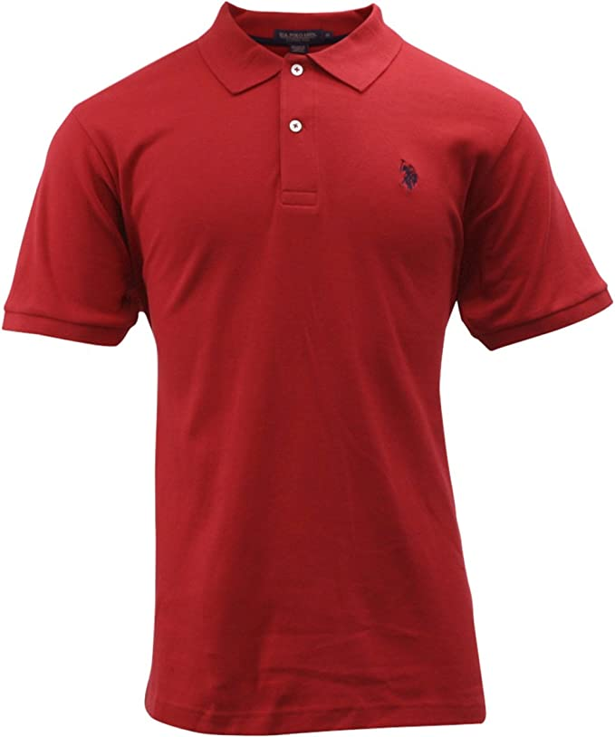 U.S Polo Assn Mens Solid Interlock Short-Sleeve Polo Shirt
