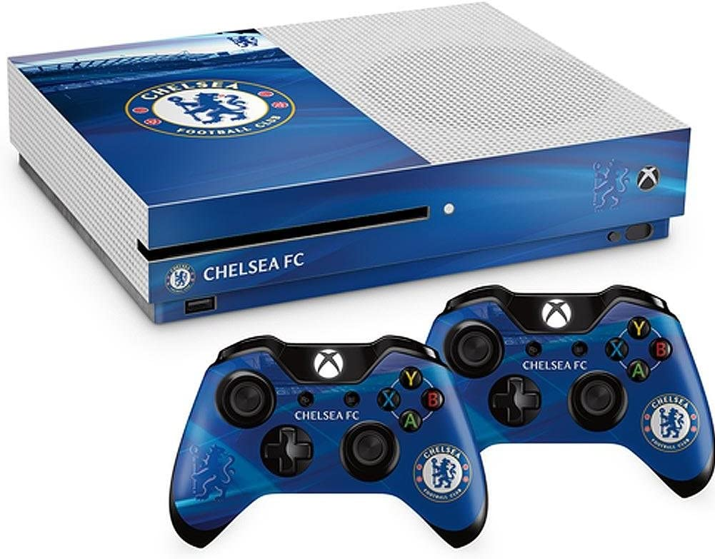 Official Chelsea Fc Xbox One S Console Skin And 2x Controller Skin Combo Pack Amazon Co Uk Sports Outdoors
