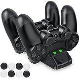 PS4 コントローラー 充電 スタンド Dinofire DS4 充電 PS4 コントローラー スタンド 充電器 LED 指示ランプ付き