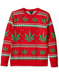 Men's Marijuana Jacquard Ugly Christmas Sweater