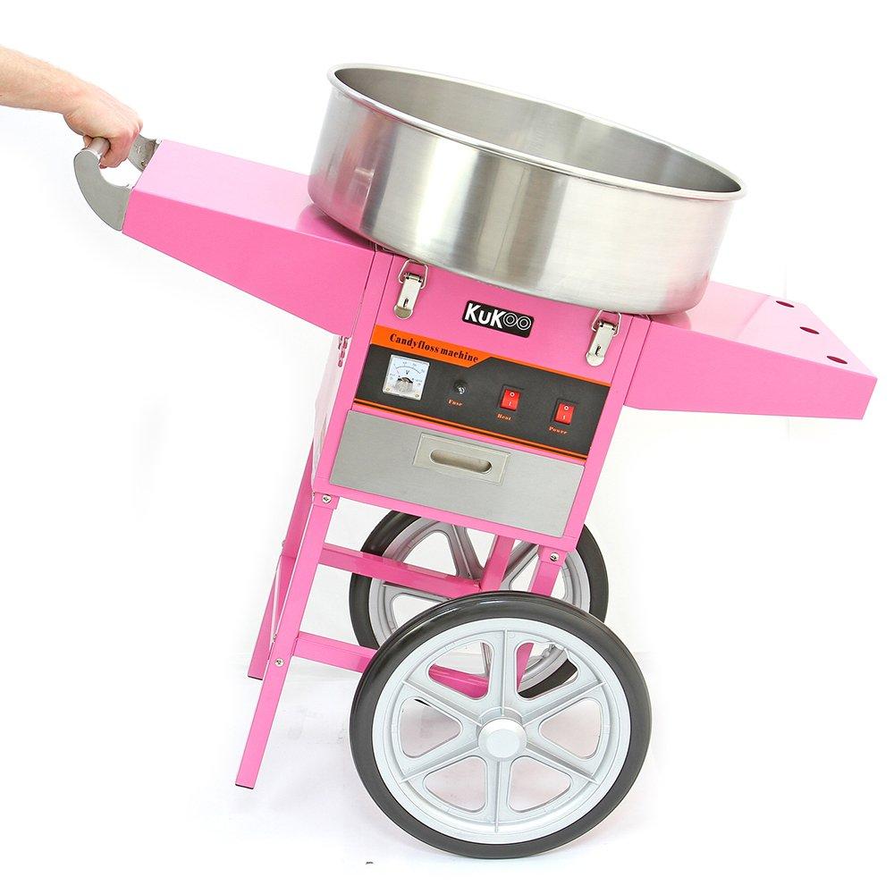 KuKoo - Máquina de Algodón de Azúcar con Carrito: Amazon.es: Juguetes y juegos