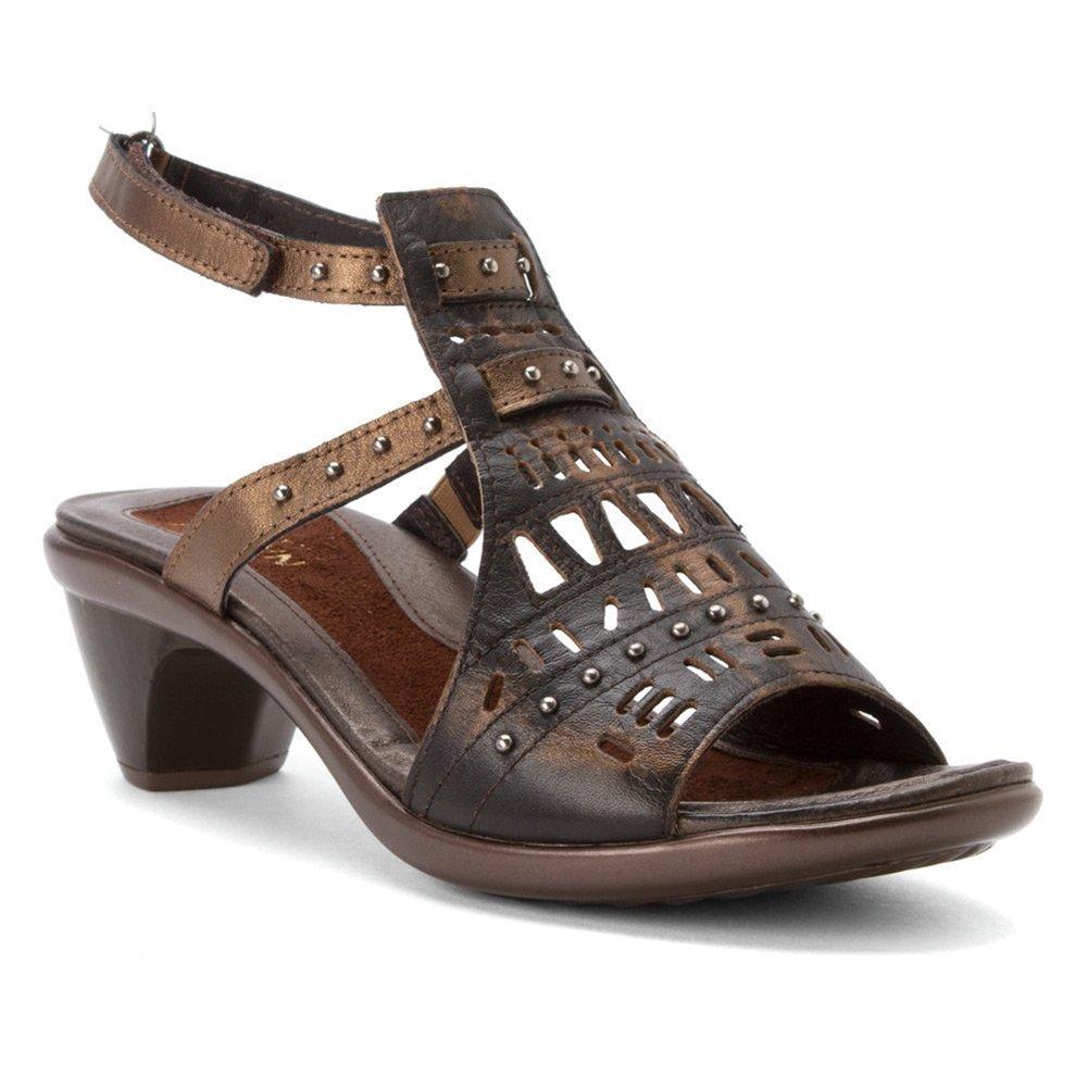 NAOT Vogue Avantgarde Women Sandals B01MG36BCP 42 M EU|Volcanic Brown/Grecian Gold