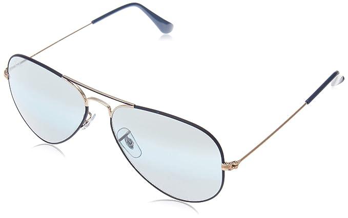 c34c652e32 Ray-Ban Unisex-Erwachsene RayBan Aviator Classic Sonnenbrille, Blau (Bronze  and Frame