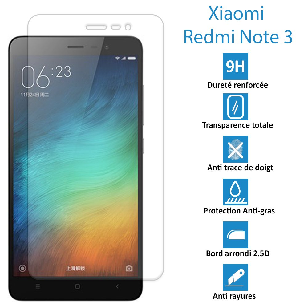 Topaccs Xiaomi Redmi Note 3 Vritable Vitre De Protection Cran En Verre Tremp Ultra Rsistante High Tech