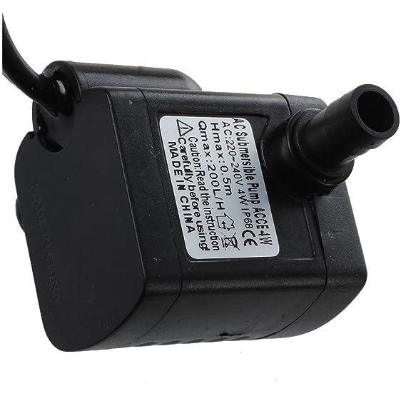 REFURBISHHOUSE Bomba Agua Aire Oxigenador Compresor 4W para Pecera Acuario: Amazon.es: Productos para mascotas
