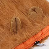 Z-YQL Dog Lion Mane, Hilarious Realistic & Funny Halloween Dog Costume with Ear - Lion Wig for Medium to Large Sized Dogs Lion Mane Wig for Dogs (Red Brown)