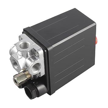 Gugutogo Válvula de regulación del regulador del compresor de Aire Resistente 90 PSI -120 PSI: Amazon.es: Hogar