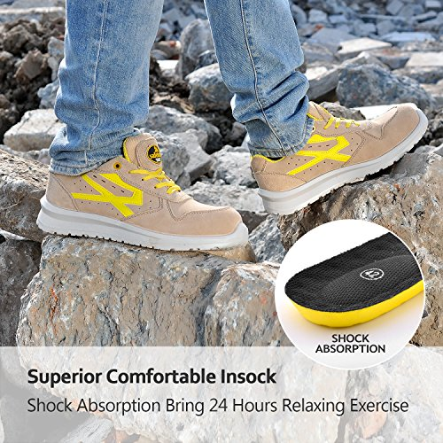 Sport Safety Yellow Work Toe Shoes Men's Lightweight Composite Shoes SAFETOE xOZPt