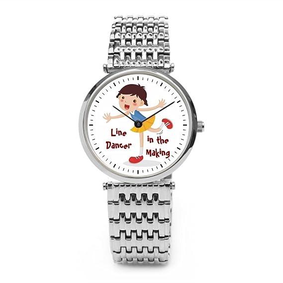Se La rage danza país país hombre Nuevo reloj de pulsera plata: Amazon.es: Relojes