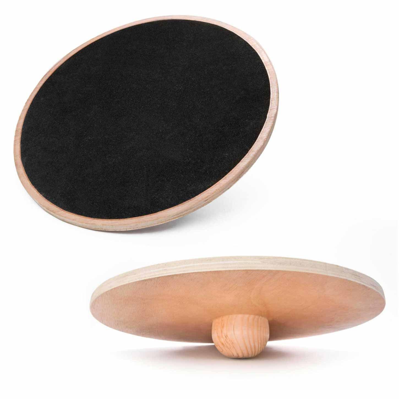 #DoYourFitness Planche d'équilibre »Sema«/Balance-Board/Plateau d'équilibre en bois antidérapants/idéale pour la rééducation/Adapté à un poids d' env. 120 kg/Taille: env. 45 cm (petit) #DoYourSports