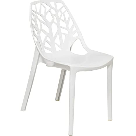 Remarkable Amazon Com Tomikko Flora White Cut Out Plastic Dining Andrewgaddart Wooden Chair Designs For Living Room Andrewgaddartcom