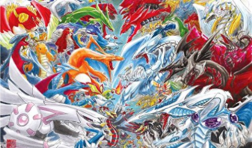Pokemon Vs Yugioh Official Mat By Christine Aka Slifertheskydragon Playmat by HiddenSupplies.com