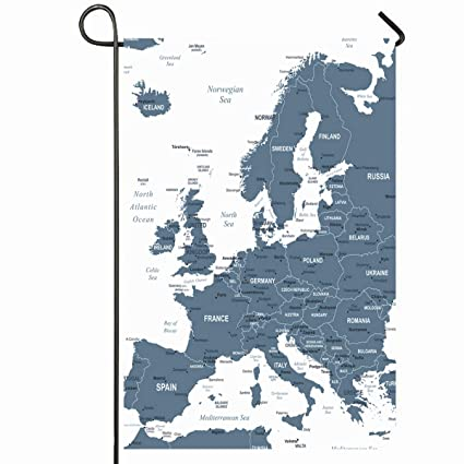 Ahawoso Outdoor Garden Flag 12x18 Inches Map Gray Austria Europe Detailed  Geography Belgium Capital Cities City Country Design Denmark Seasonal Home  ...