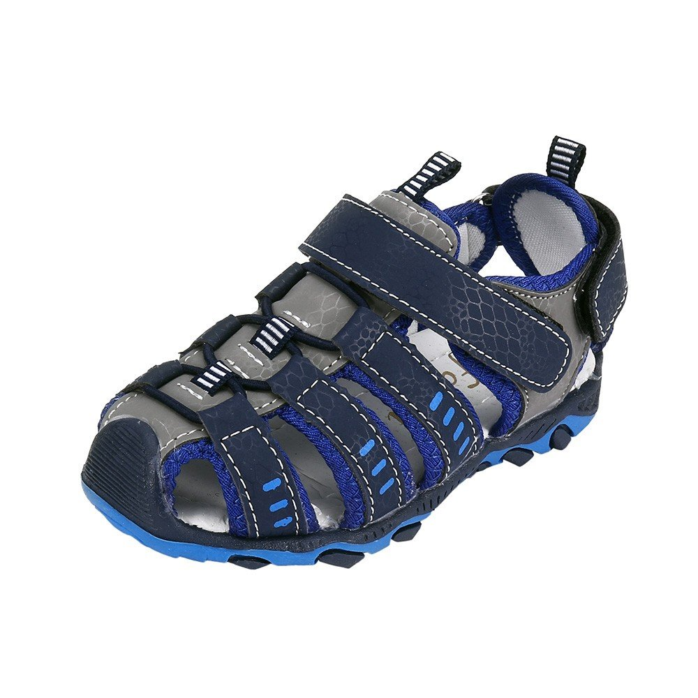 Sherostore ♡ Boys' and Girls' Summer Outdoor Beach Sports Closed-Toe Outdoor Sandals (Toddler/Little Kid/Big Kid) Blue