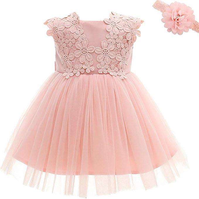 M/ädchen Kleid Festliche Prinzessin Kleider Blumenm/ädchenkleider Wei/ßes Taufkleid Hochzeitskleid Partykleid Festzug