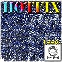 工芸のアウトレットDMCアイロンホットフィックスで優れた品質ガラス1440-pieceラウンドラインストーン装飾、2mm、ロイヤルブルー
