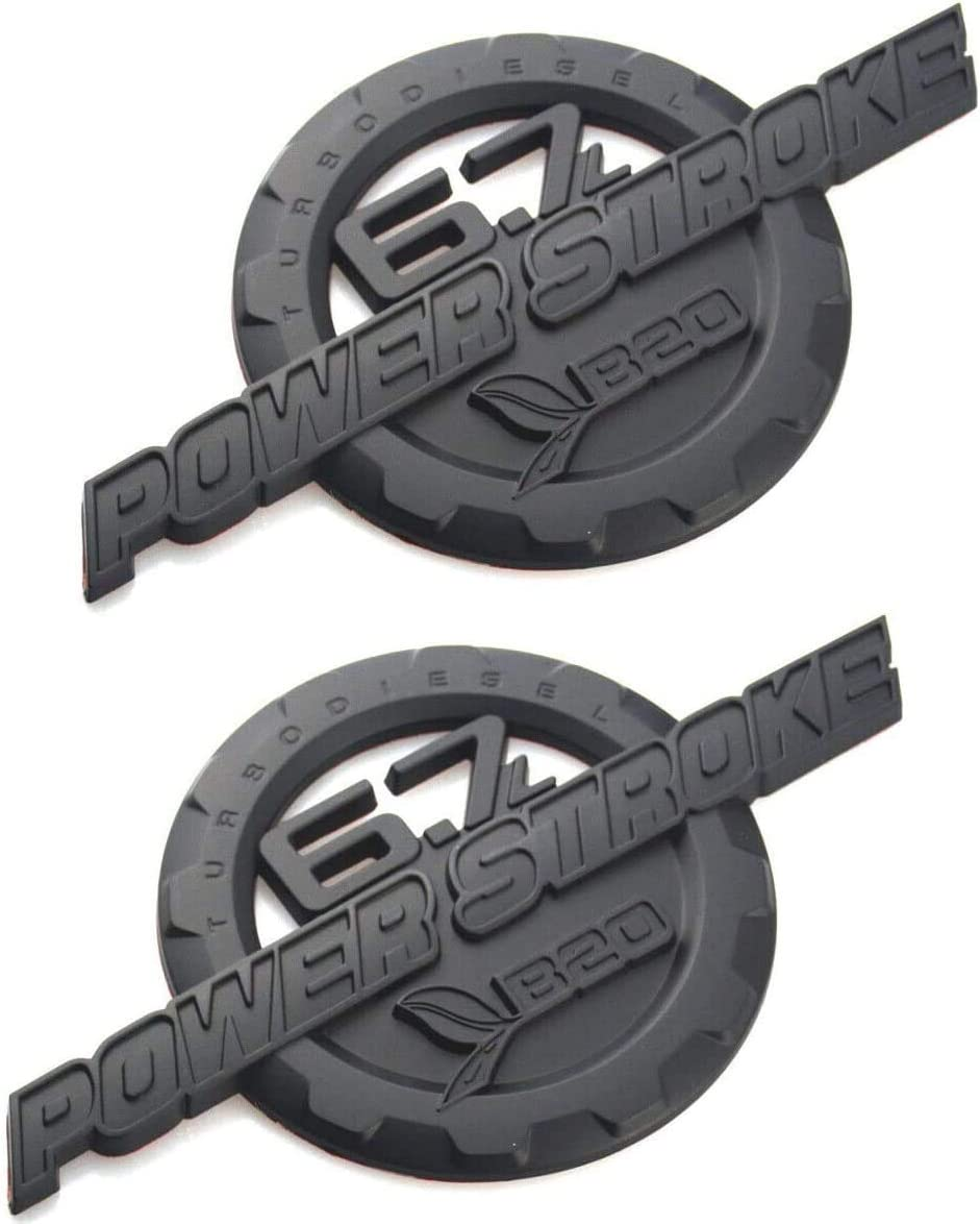 Power Stroke Turbo Diesel Door Decal 3D Badge Replacement for 2011-2016 F250 F350 2 Pack 6.7L Powerstroke Emblems
