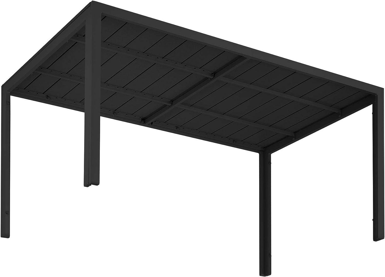 TecTake 800716 Mesa de Jardín Rectangular, Estructura Inoxidable de Aluminio, Patas Ajustables en Altura, Ideal Exterior Interior, 150x90x74.5cm ...