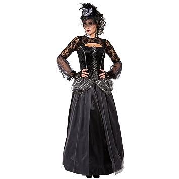 Amakando Vestido Reina Malvada - ES 36/38 (XS/S) | Disfraz ...