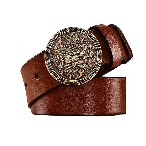 Lostryy-Cinturón de Hombre/cinturón de Hebilla Suave Salvaje ...