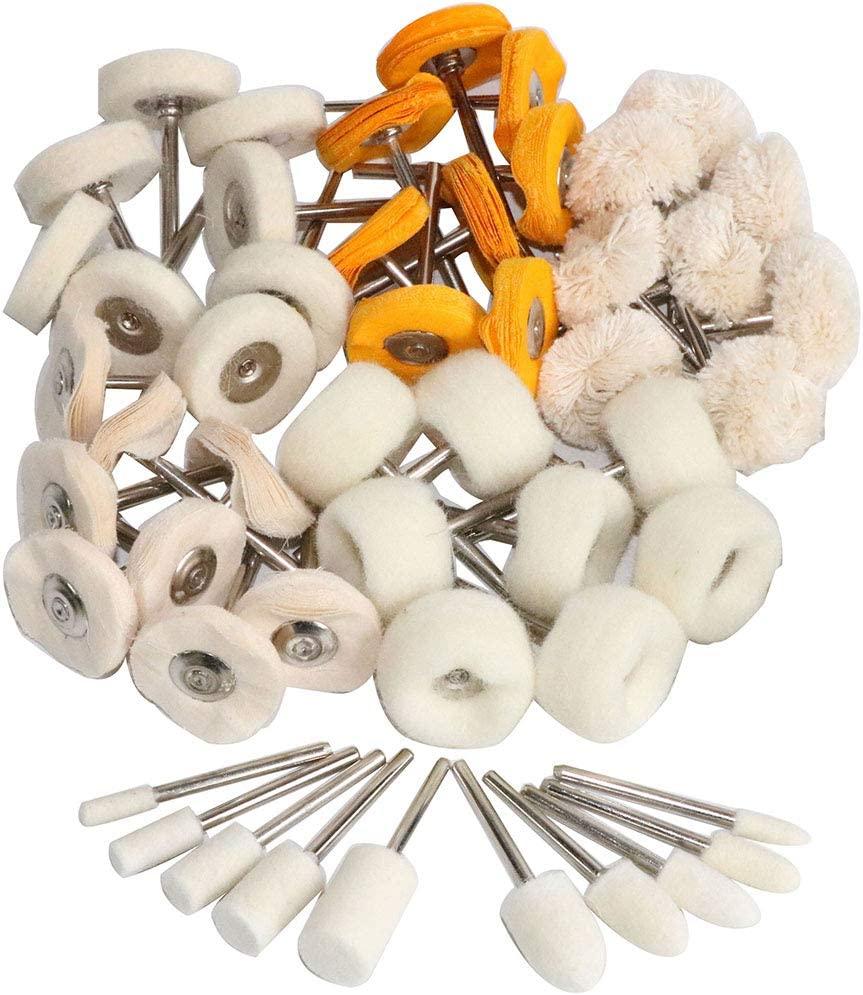 YOTINO 40 Pack 1 inch 25mm Abrasive Wheel Buffing Polishing Wheel Set For Dremel Rotary Tool