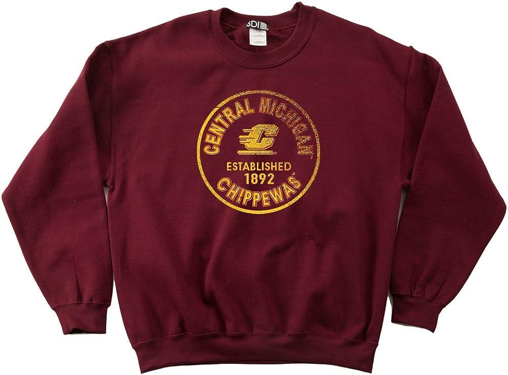 NCAA Hawaii Rainbow Warriors 50//50 Blended 8-Ounce Vintage Circle Hooded Sweatshirt