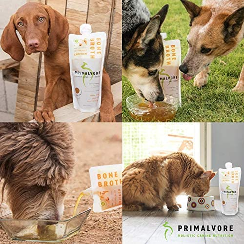 Primalvore Organic Bone Broth for Dogs: Liquid Dog Food Gravy Wet Topper - All Natural Instant Canine Digestion Formula - Best as Hydrating Unsalted Bonebroth Topping to Pour Over Your Pets Kibble 8