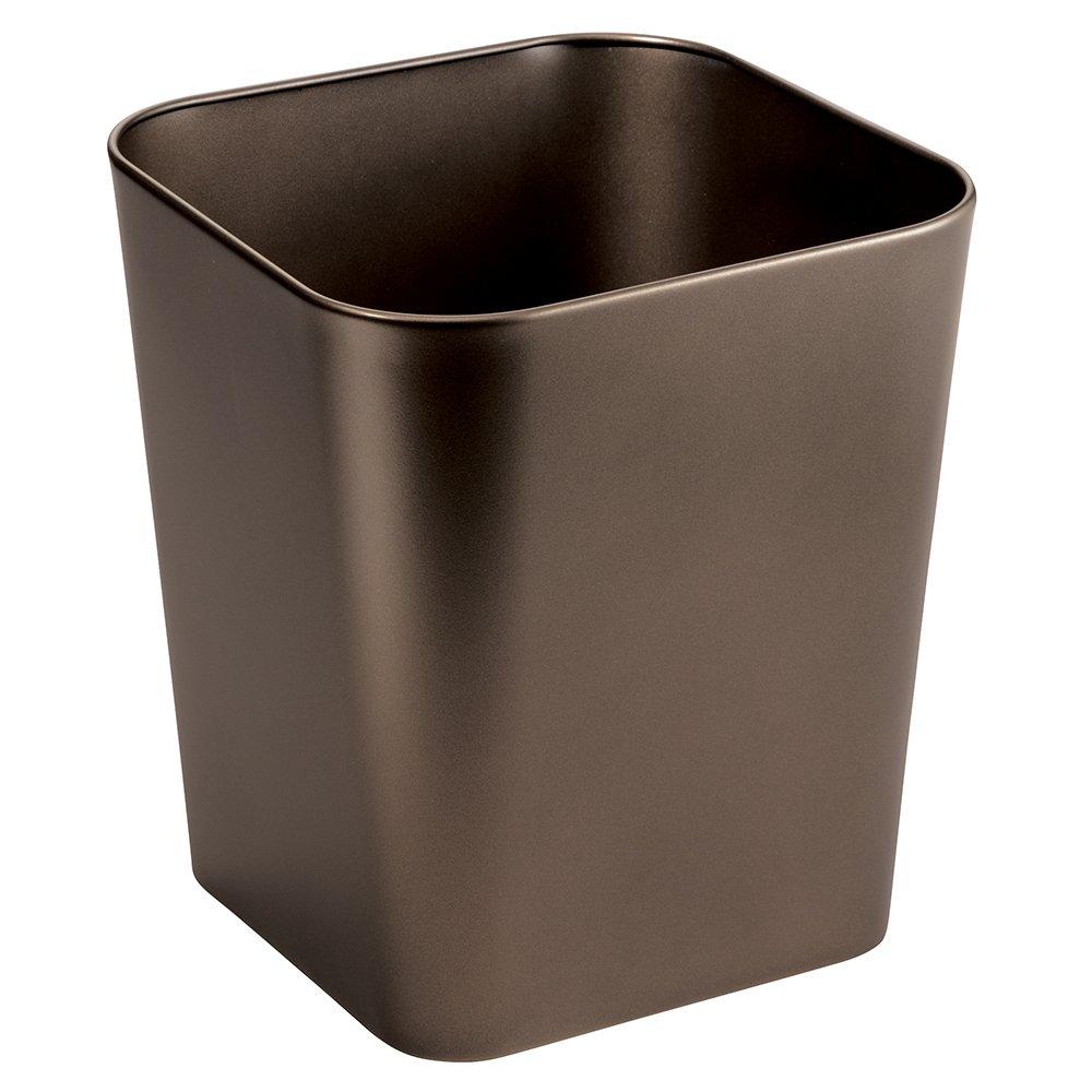 Black 93447 InterDesign Kent Oval Wastebasket Trash Can for Bathroom Office Kitchen
