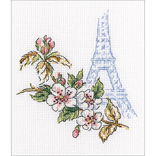 "RTO Window To Paris Counted Cross Stitch Kit-3.75""X4.25"" 16"