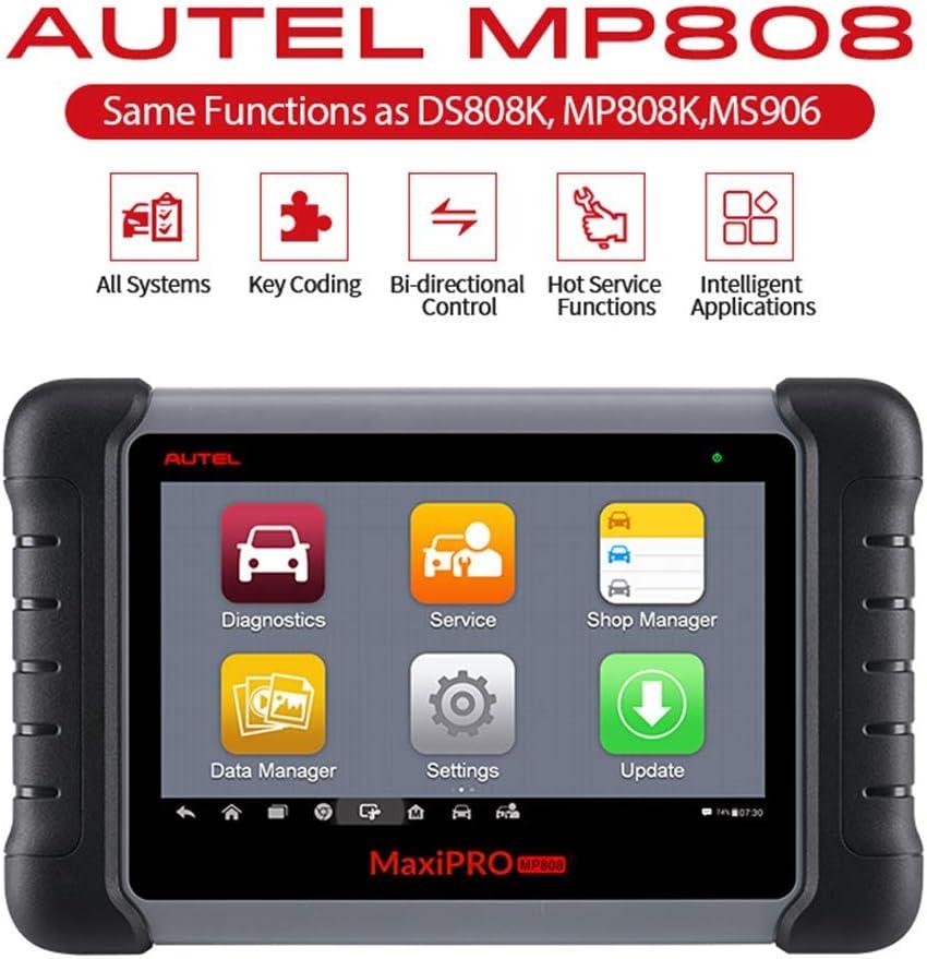 Diagnosegerät Auto Autel Mp808 Obd2 Scanner Schlüssel Codierung Oe Level Diagnose Alle Systeme Mit 18 Sonderfunktionen Autovin Aktualisierte Version Von Ds708 Funktionen Wie Ds808 Ms906 Auto