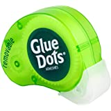Glue Dots Removable Dot N' Go Dispenser with 200 (.375 Inch) Removable Adhesive Dots (GD03669T)