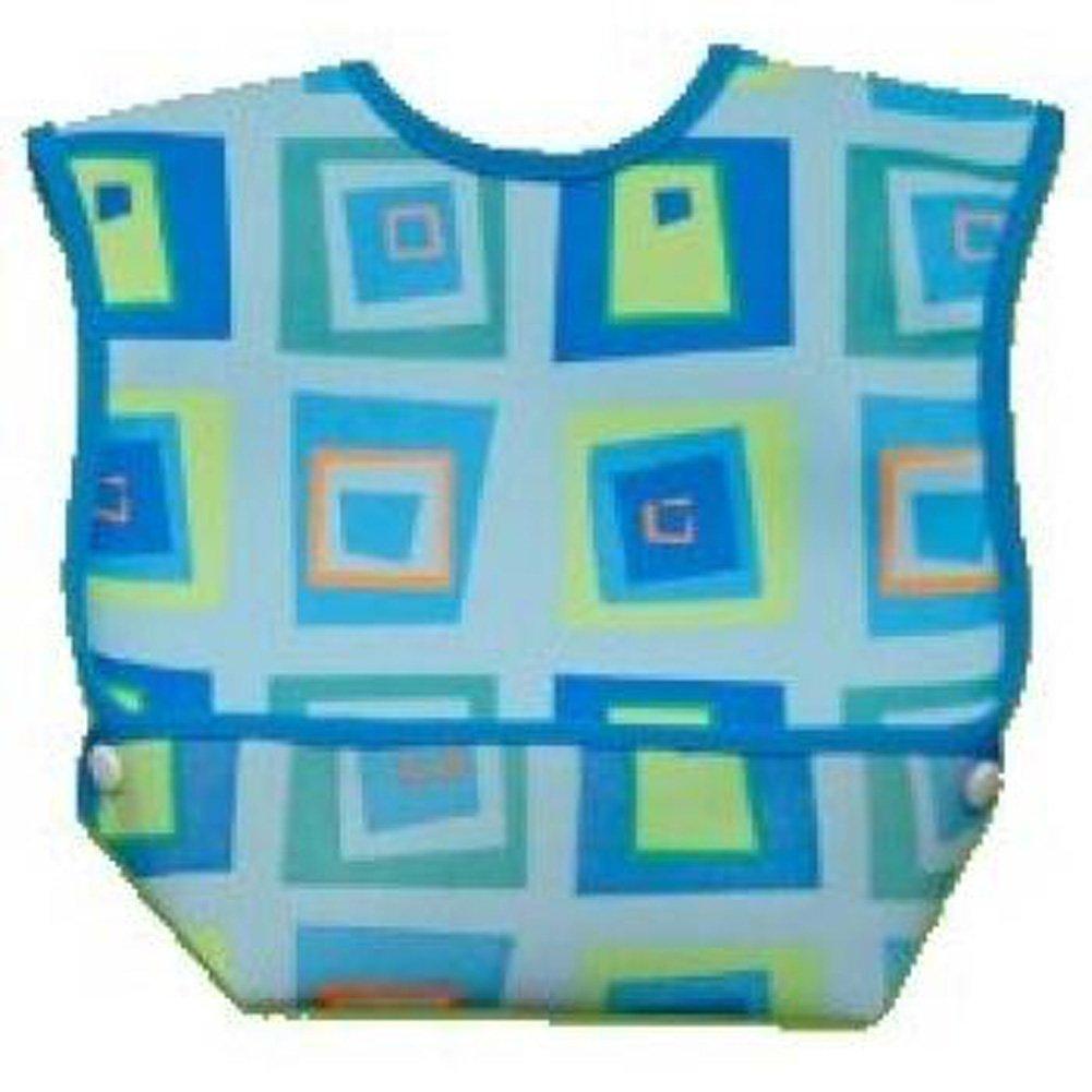 Dex- Baby Dura Bib Crum Catcher - Geo Bib, Blue DexBaby DBL-GB
