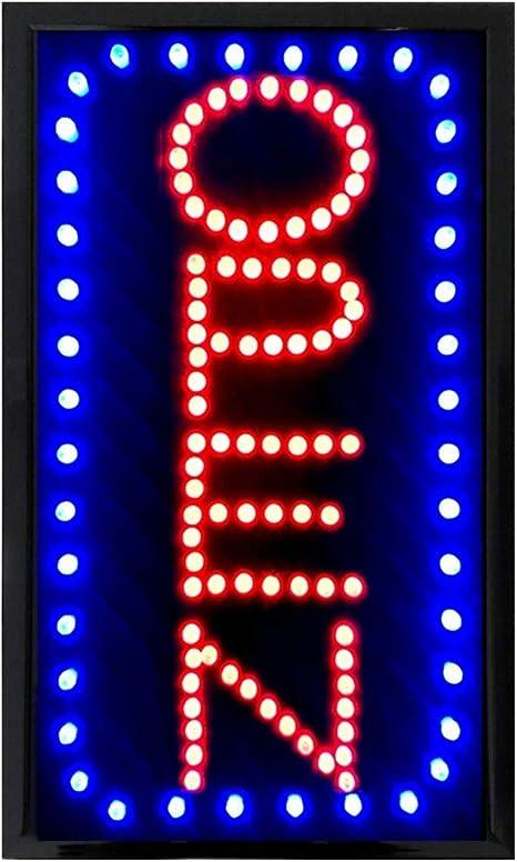 Amazon.com: Señal abierta LED vertical grande de 22.0 x 13.0 ...