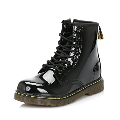 8aa5e4b82fe Dr Martens - Kids Delaney 1460 Y Lace Ankle Boots in Black Patent ...
