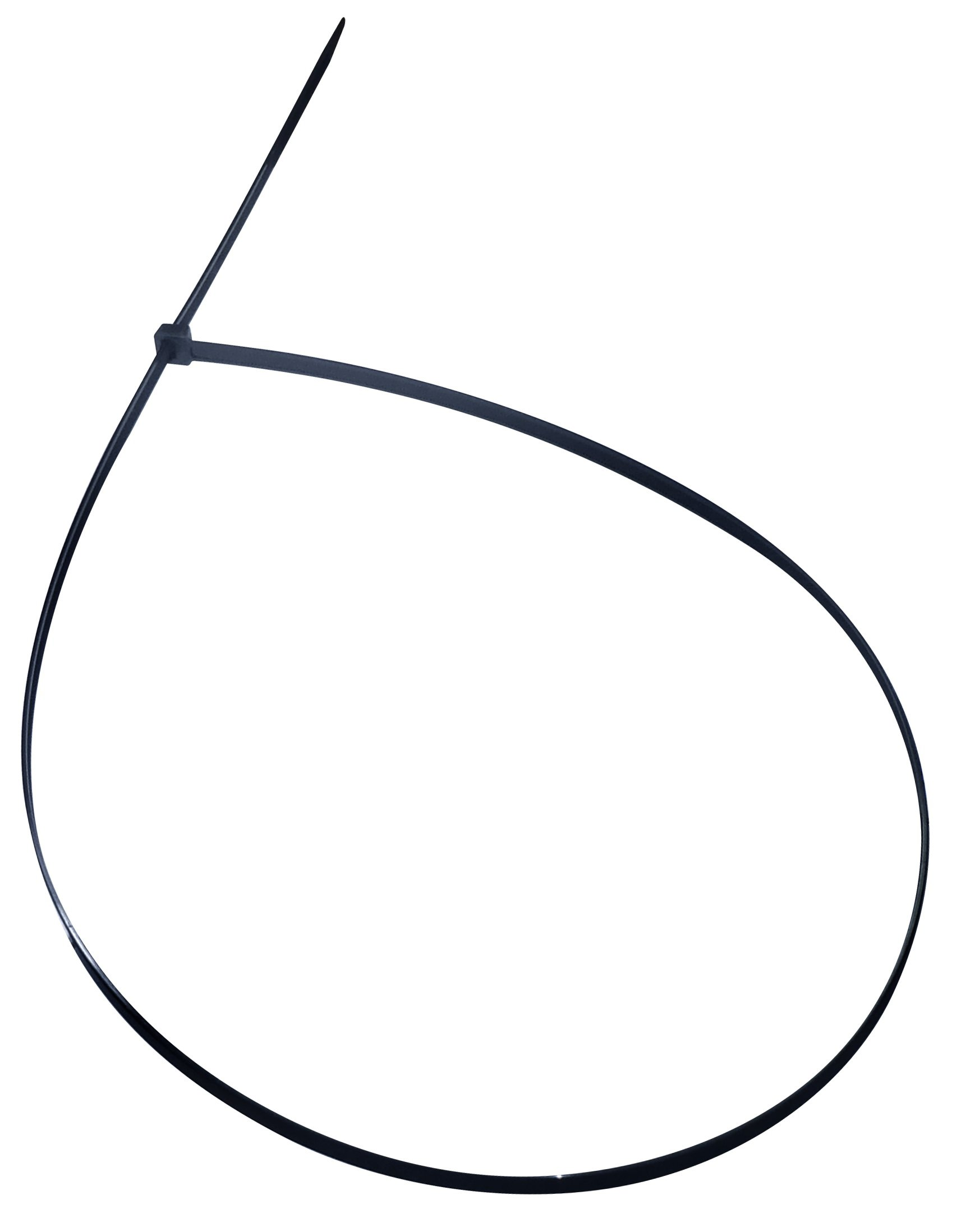 Cambridge Multi Purpose Cable Ties Zip Ties 48 Inch 175 Lb 50 Pieces Heavy Duty UV Black