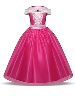 9cb285c590ddb Pretty Princess Déguisement Princesse Fille Robe Aurore pour Enfants de 3-10  Ans