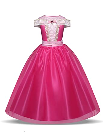 44f0676c1c6 Pretty Princess Déguisement Princesse Fille Robe Aurore pour Enfants de  3-10 Ans  Amazon.fr  Vêtements et accessoires