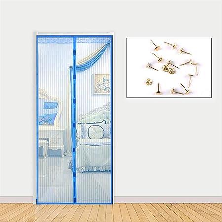 LANDP Mosquitera Puerta Anti-Mosquito Velcro Pasar el Aire Malla Diseño silencioso Cifrado mosquitera Puerta magnetica Cierre magnético automático Lavable magnética para Puertas: Amazon.es: Hogar